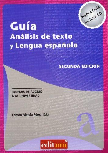9788415463214: Guía análisis de texto y lengua española. segunda edición