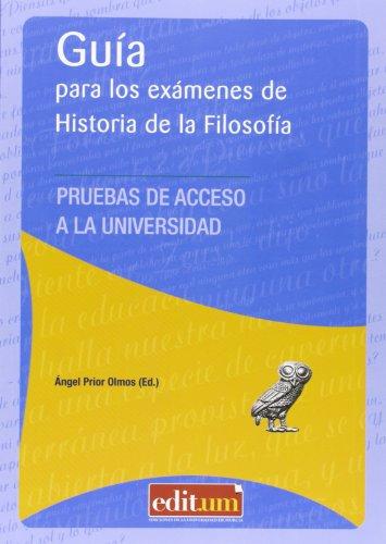 9788415463979: Guía para los exámenes de historia de la filosofía