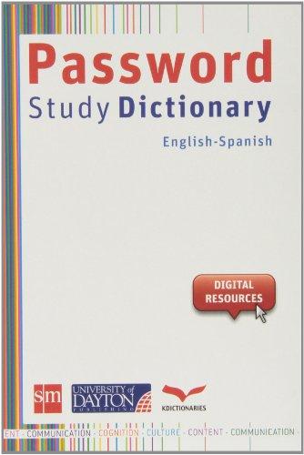 9788415478676: Password Study Dict. Ing/esp (Dictionary / Diccionario)