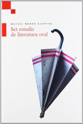 9788415592112: Set Estudis De Literatura Oral