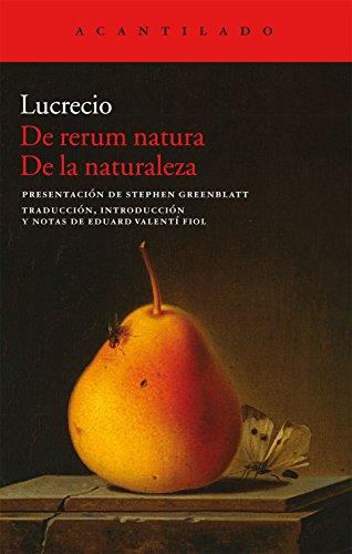 9788415689171: De Rerum Natura. De La Naturaleza (Acantilado)