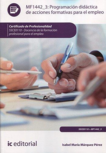 9788415730484: Programación didáctica de acciones formativas para el empleo