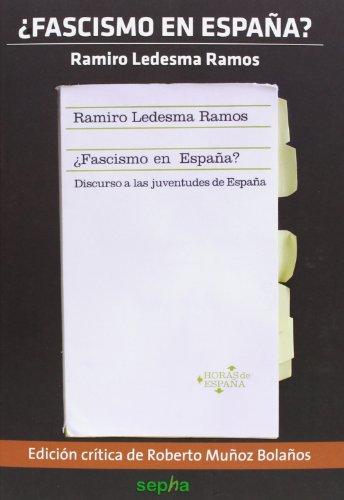 9788415819189: ¿Fascismo en España? (Flores Del Mal)