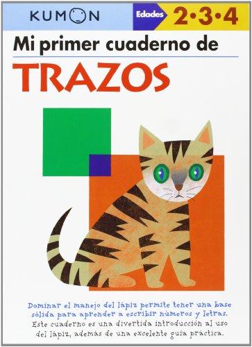 KUMON Mi primer cuaderno de TRAZOS Edades 2.3.4 años