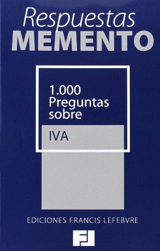 9788415911418: Respuestas Memento. 1.000 Preguntas sobre IVA