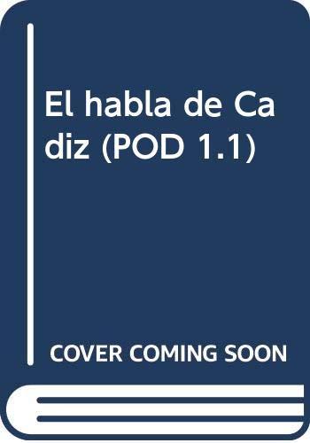 9788415938019: El habla de Cádiz (POD 1.1)