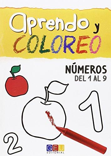 9788415953166: APRENDO Y COLOREO NUMEROS DEL 1 AL 9