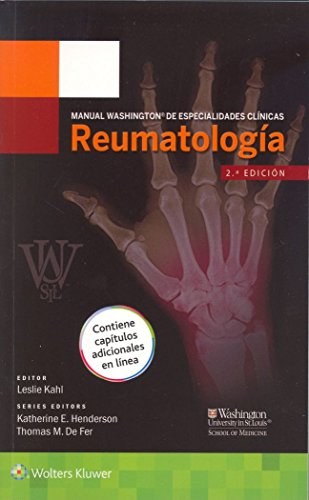 9788416004911: Manual Washington de especialidades clínicas. Reumatología (Spanish Edition)