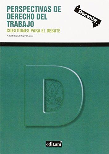 9788416038893: Perspectivas de Derecho del Trabajo. Cuestiones para el debate
