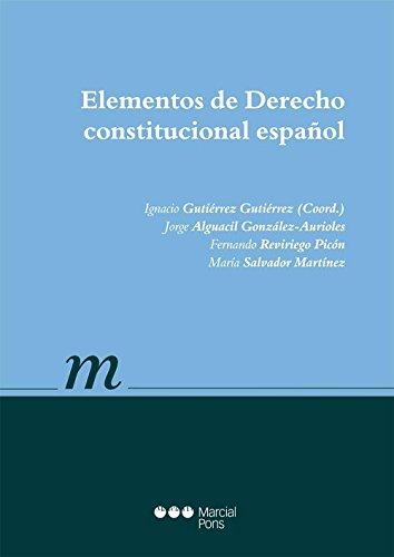 9788416212248: Elementos de Derecho constitucional español (Manual universitario)