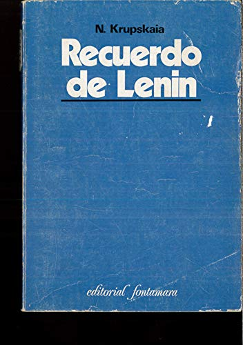 9788416285068: Recuerdo de Lenin