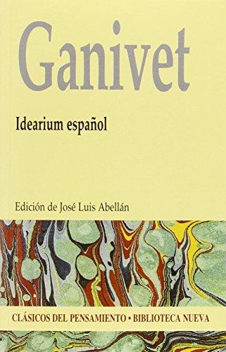 9788416345311: Idearium español - Edición Clásicos del Pensamiento [Feb 16, 2015] Ganivet, Ángel