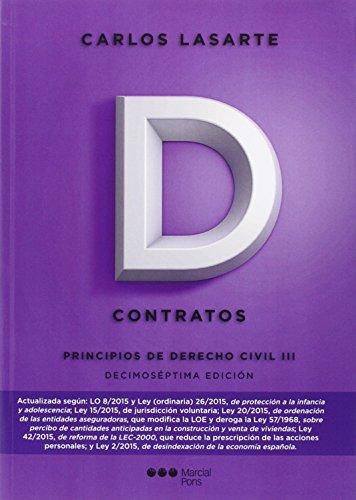 9788416402250: Principios de Derecho civil. Tomo III: Contratos: 3 (Manuales universitarios)