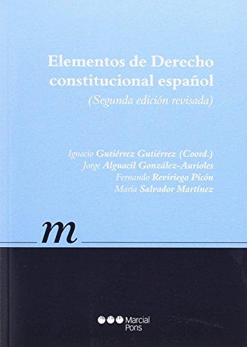 9788416402533: Elementos de Derecho constitucional español (Manuales universitarios)