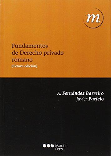 9788416402748: Fundamentos de Derecho privado romano