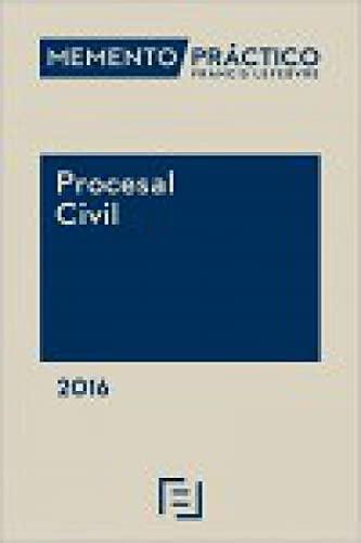 9788416612086: Memento práctico procesal civil 2016. POD: Proceso Civil. Arbitraje. Proceso Canónico