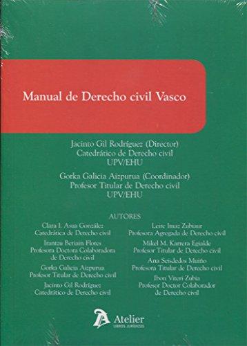 9788416652242: Manual de Derecho civil vasco