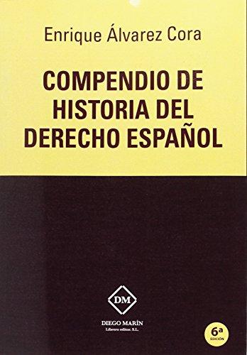 9788417010515: Compendio de Historia del Derecho español