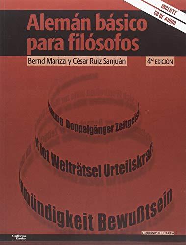 9788417134501: Alemán básico para filósofos (Cuadernos de filosofía)