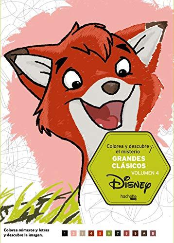 9788417240998: Colorea y descubre el misterio. Grandes clásicos - volumen 4 (Hachette Heroes - Disney - Colorear)