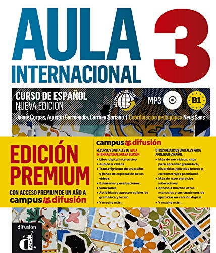 9788417249533: Aula Internacional 3 Libro del alumno + MP3 versión Premium: Libro del alumno + ejercicios + CD 3 (B1)