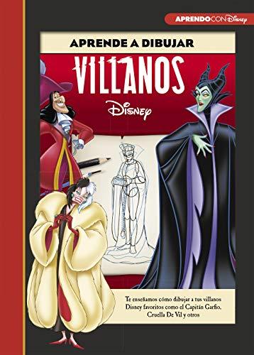 9788417630249: Aprende a dibujar a Villanos Disney (Crea, juega y aprende con Disney): Te enseñamos cómo dibujar a tus villanos Disney favoritos como el Capitán Garfio, Cruella De Vil y otros