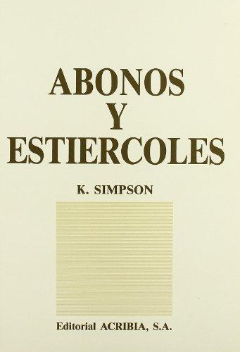 9788420006932: Abonos y Estiercoles (Spanish Edition)