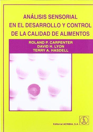 Analisis sensorial en el desarrrollo y control: CARPENTER