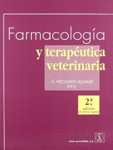 FARMACOLOGIA Y TERAPEUTICA VETERINARIA
