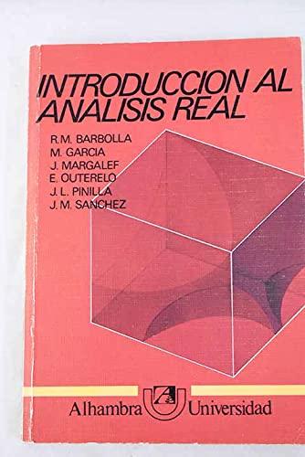 9788420507712: INTRODUCCION AL ANALISIS REAL