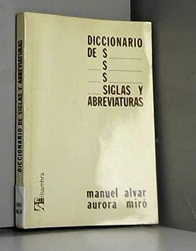 Diccionario de Siglas y Abreviaturas (Spanish Edition): M. Alvar Ezquerra,