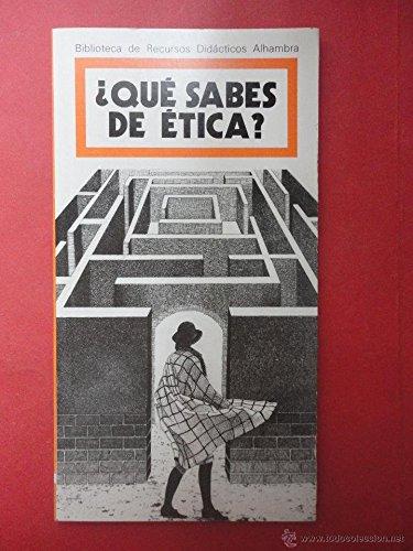 9788420515830: Breda.que sabes de ética?
