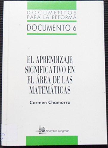 9788420520384: Aprendizaje significativo en el area de matematicas, el