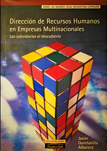 9788420530567: Direccion de recursos humanos en empresas multinacionales