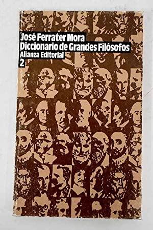 9788420602127: Diccionario de grandes filosofos 2 (Libro De Bolsillo, El)