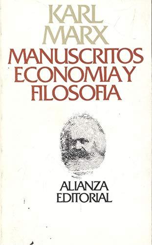 9788420611198: Manuscritos: Economia Y Filosofia