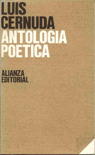 Antologia Poetica (El Libro de Bolsillo ;: Cernuda, Luis