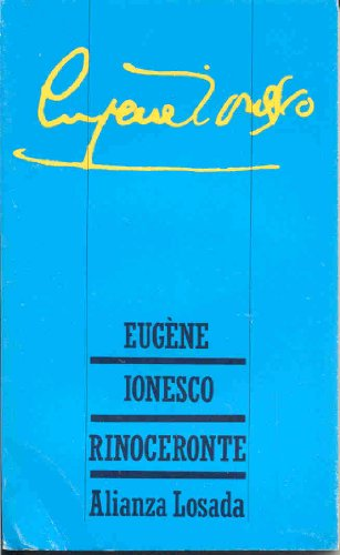 9788420618715: Rinoceronte (Spanish Edition)