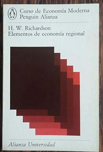 Elementos de economía regional: Richardson, Harry W.