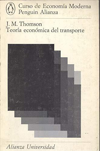 9788420621531: Teoría económica del transporte