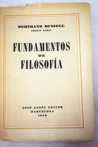 9788420624129: Fundamentos de filosofia