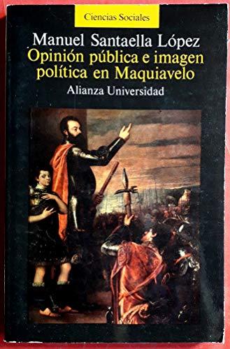 9788420626390: Opinion publica e imagen politica en maquiavelo