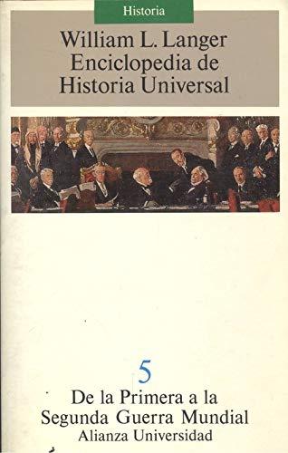 9788420626444: De la primera a la segunda Guerra mundial (enciclopedia de historia un