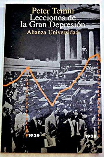 9788420628356: Lecciones de la Gran Depresion/ Lessons of the Great Depression (Spanish Edition)