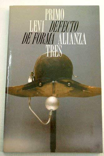 9788420632360: Defecto de forma / Defect of shape (Alianza Tres) (Spanish Edition)