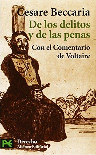 De los delitos y de las penas.: Beccaria, Cesare