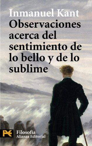 9788420661964: Observaciones acerca del sentimiento de lo bello y de lo sublime (Humanidades: Filosofia / Humanities: Philosophy) (Spanish Edition)