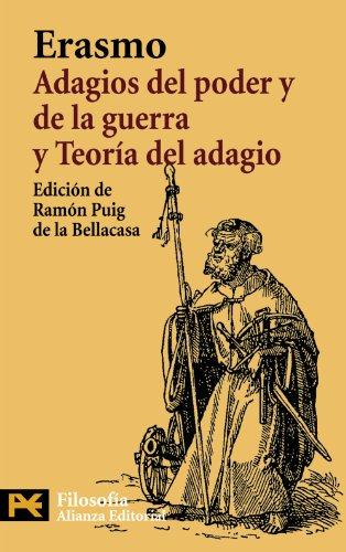 9788420662558: Adagios del poder y de la guerra. Teoría del adagio (El Libro De Bolsillo - Filosofía)