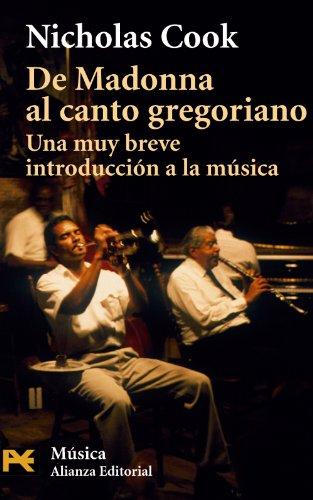 9788420672076: De Madonna al canto gregoriano: Una muy breve introducción a la música (El Libro De Bolsillo - Humanidades)