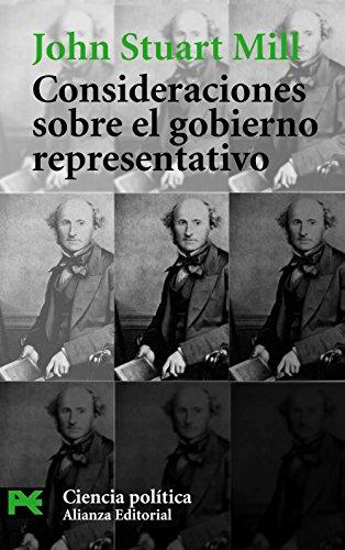 9788420672724: Consideraciones sobre el gobierno representativo: 1 (El libro de bolsillo - Ciencias sociales)